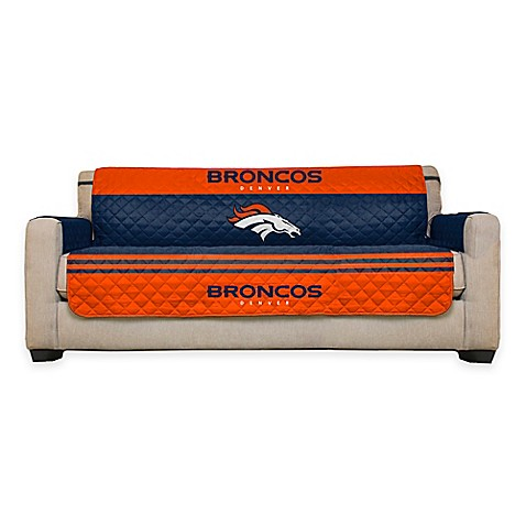 Buy nfl denver broncos sofa cover from bed bath beyond for Nfl furniture covers