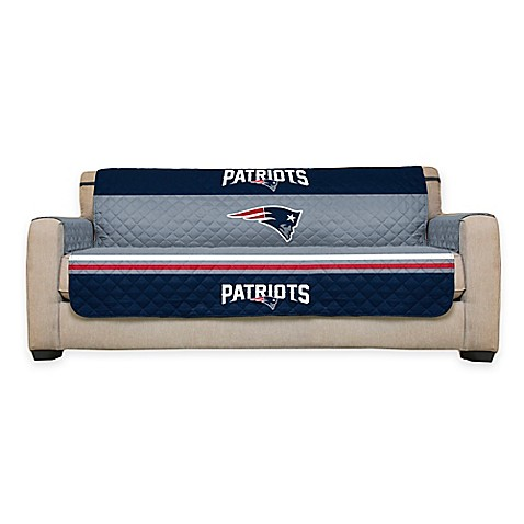 Buy nfl new england patriots sofa cover from bed bath beyond for Nfl furniture covers