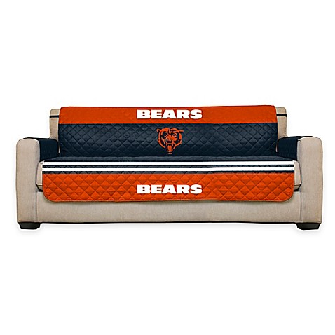 Buy nfl chicago bears sofa cover from bed bath beyond for Nfl furniture covers