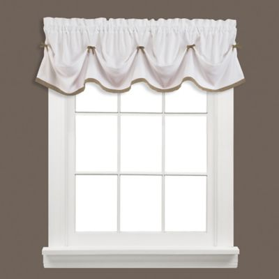 Kate Window Valance in Taupe