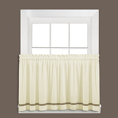 Buy Kate 36 Inch Window Curtain Tier Pair In Tan From Bed Bath Beyond