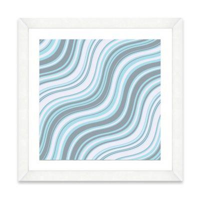 Blue Wave Pattern I Framed Art Print