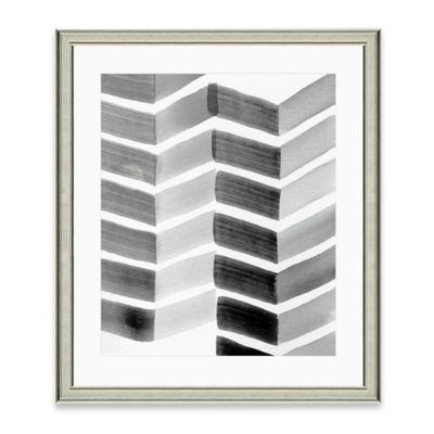 Grey Chevron Print
