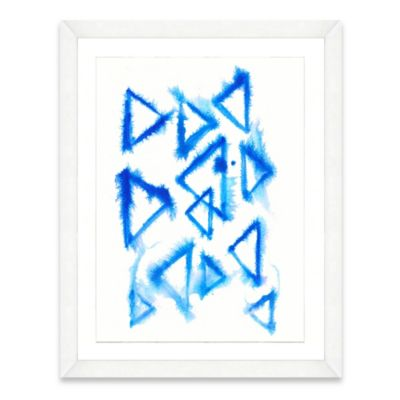 Framed Giclée Watercolor Triangle Print Wall Art
