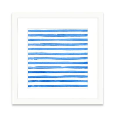 The Framed Giclée Blue Pattern Print Wall Art