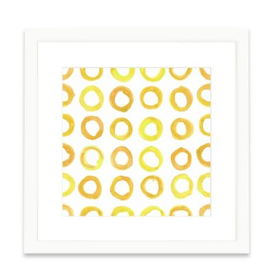The Framed Giclée Yellow Pattern Print Wall Art