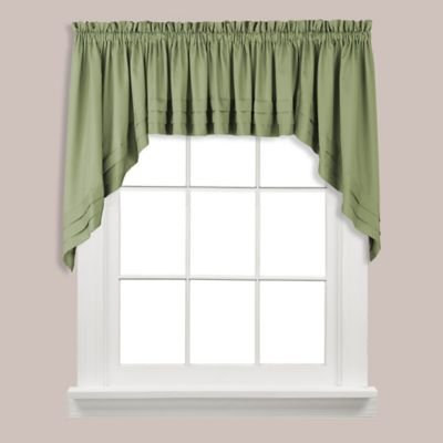 Buy Gingham Swag Valance In Green From Bed Bath Amp Beyond