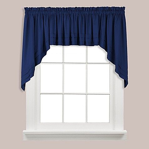 Buy Holden Swag Valance In Navy From Bed Bath Amp Beyond