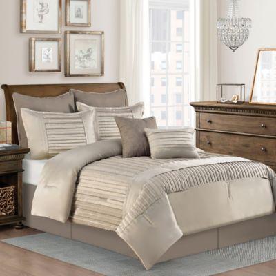 Dansville 8-Piece California King Comforter Set in Taupe