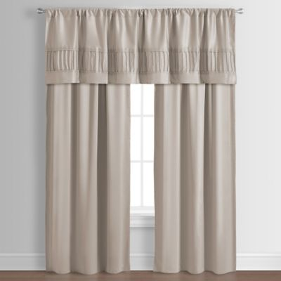 Dansville 84-Inch Window Curtain Panel Pair in Taupe