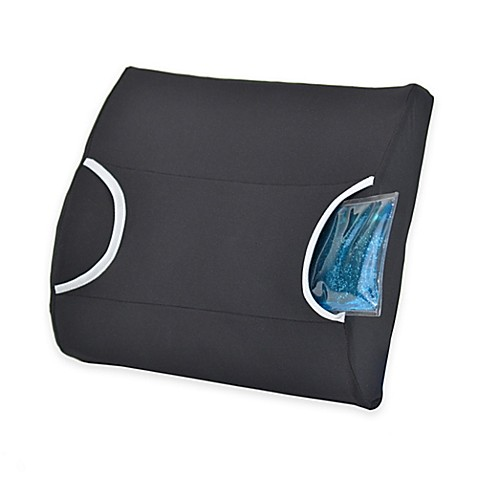 Buy Contour Warm Cool Lumbar Support Pillow In Black From