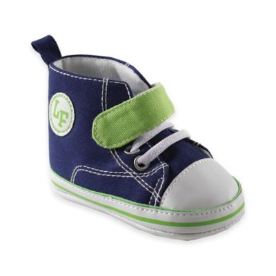 BabyVision® Luvable Friends™ Size 12-18M Hi-Top Sneaker in Navy/Lime