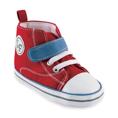 BabyVision® Luvable Friends™ Size 0-6M Color Block Hi-Top Sneaker in Red