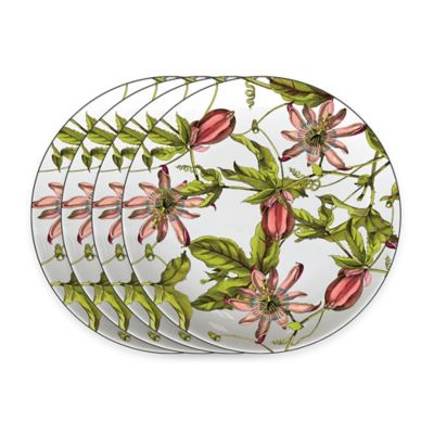 Caskata Studio Pink Passion 4-Piece Tidbit Topper Plate Set