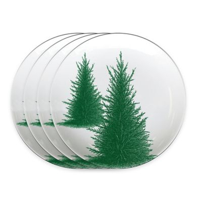 Caskata Studio Conifer Melamine Tidbit Toppers (Set of 4)