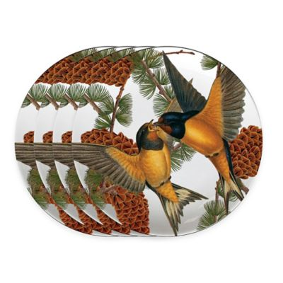 Caskata Studio Pine Birds Melamine Tidbit Toppers (Set of 4)