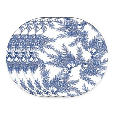 Caskata Studio Cedar Blue Melamine Tidbit Toppers (Set of 4)
