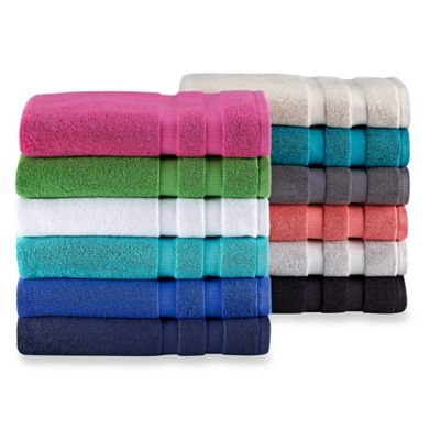 Striped White Hand Towel
