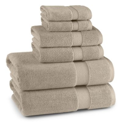 Monarch Collection Bath Towel in Marbled Tan