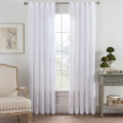 Bayport Fringe 63-Inch Rod Pocket/Back Tab Window Curtain Panel in White