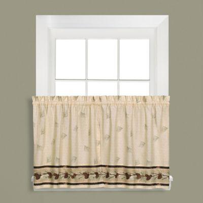 Pinehaven 36-Inch Rod Pocket Window Curtain Tier Pair
