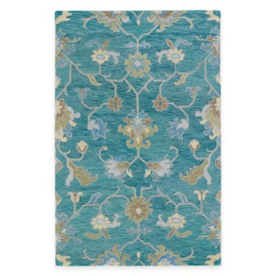 Kaleen Helena Collection Agave 4-Foot x 6-Foot Area Rug in Turquoise