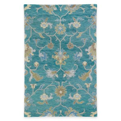 Kaleen Helena Collection Agave 5-Foot x 7-Foot 9-Inch Area Rug in Turquoise