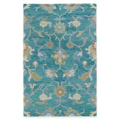 Kaleen Helena Collection Agave 8-Foot x 10-Foot Area Rug in Turquoise