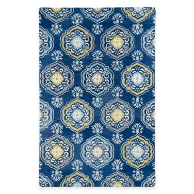 Kaleen Helena Collection Damali 5-Foot x 7-Foot Area Rug in Blue
