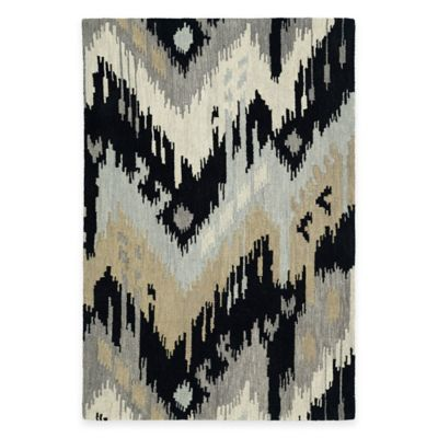 Kaleen Casual Tribal Chevron 2-Foot x 3-Foot Accent Rug in Mint