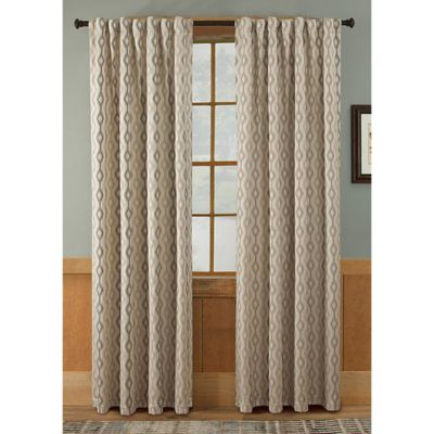 Tempe 95-Inch Rod Pocket/Back Tab Window Curtain Panel in Taupe