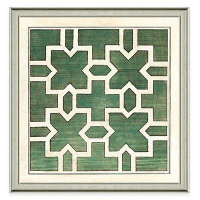Green Garden Plan II Framed Art Print