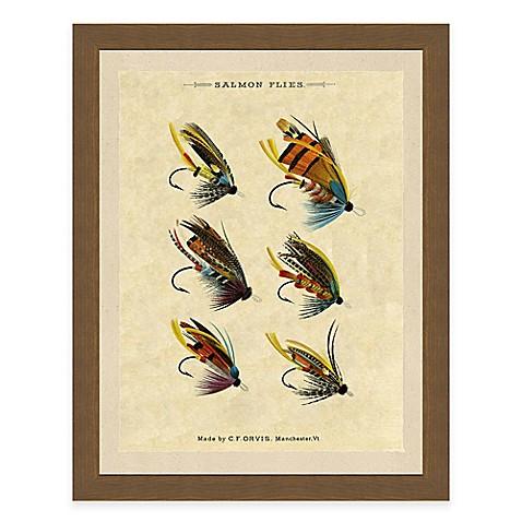 Fishing flies ii framed art print for Closest fishing store