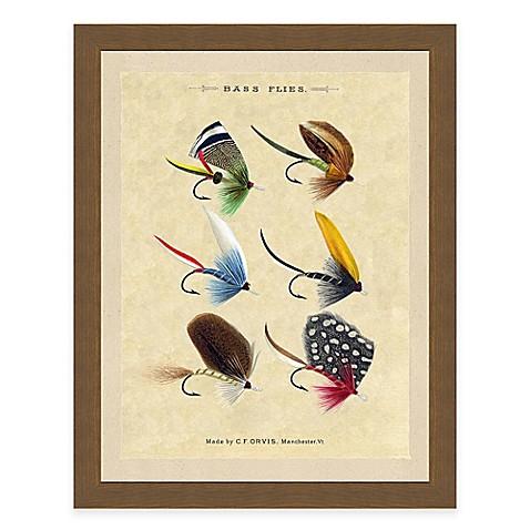 Fishing flies iii framed art print for Closest fishing store