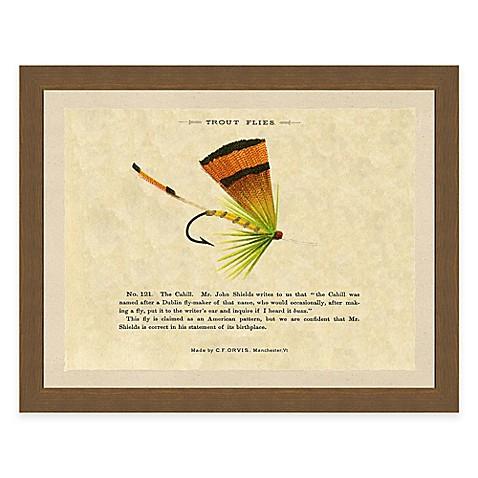 Single fishing fly i framed art print www for Closest fishing store