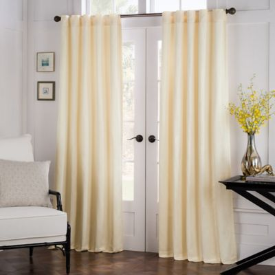 Havana 63-Inch Rod Pocket/Back Tab Window Curtain Panel in Spa