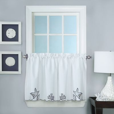Biscayne 24-Inch Window Curtain Tier Pair