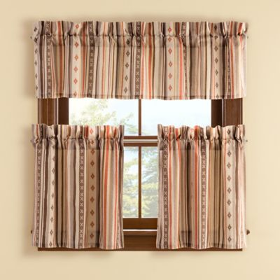 Wyoming 24-Inch Window Curtain Tier Pair
