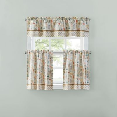 Sea Blue Window Valance