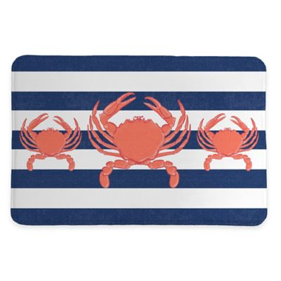 Laural Home® 20-Inch x 30-Inch Crab Stripe Memory Foam Rug