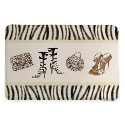 Laural Home Wild for Fashion 20-Inch x 30-Inch Memory Foam Bath Rug