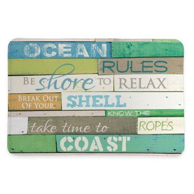Laural Home® 20-Inch x 30-Inch Ocean Rules Memory Foam Rug