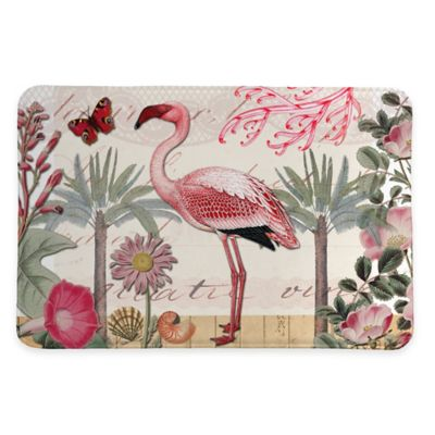 Laural Home® 20-Inch x 30-Inch Botanical Flamingo Memory Foam Rug