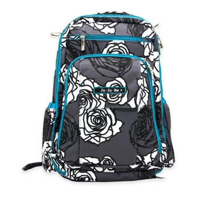 Ju-Ju-Be® Be Right Back Backpack Style Diaper Bag in Charcoal Roses