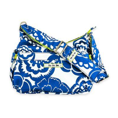 Cobalt Blossoms Diaper Bags