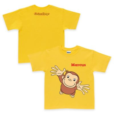 Curious George Size 10/12 Pick Me Up T-Shirt in Yellow