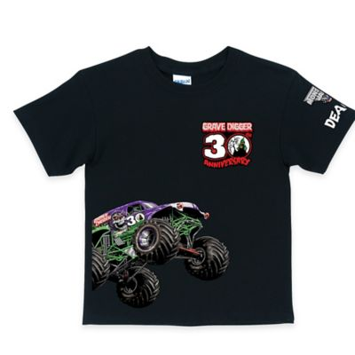 Monster Jam® Size 2T Grave Digger's® 30th Anniversary T-Shirt in Black