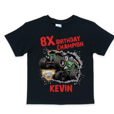 "Monster Jam® Size 2T ""Birthday Champion"" T-Shirt in Black"