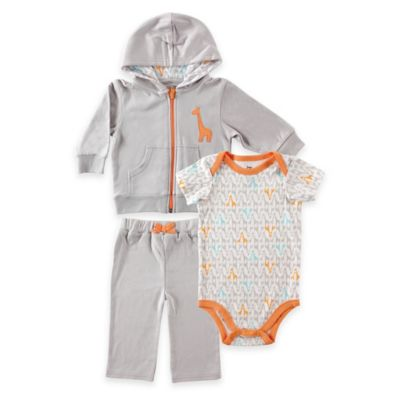 Baby Vision® Yoga Sprout Size 18-24M Long Sleeve Giraffe Top, Pant, and Giraffe Bodysuit Set