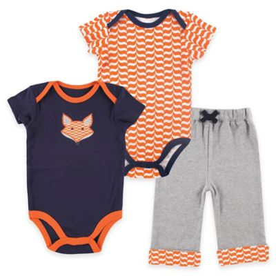 Baby Vision® Yoga Sprout Size 12-18M Pant, Patterned Bodysuit and Fox Bodysuit Set